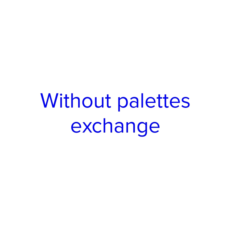 Without palettes exchange